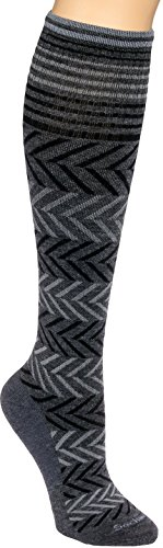 Sockwell Womens Chevron Circulator Compression Socks (Charcoal S/M) from Sockwell