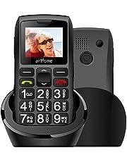 artfone Big Button Mobile Phone for Elderly C1+ Charging Dock 1400mAh Battery Unlocked Senior Mobile Phone with SOS Button(Black)