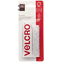 """VELCRO Brand - Sticky Back - 3 1/2"""" x 3/4"""" Strips, 4 Sets - White"""