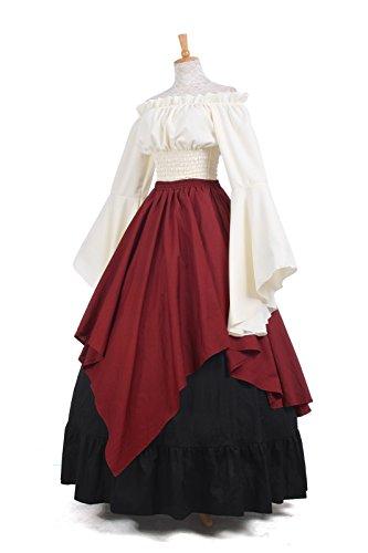 Königin Nuoqi ni Damen Gc229b Kleid Kostüm Party Mittelalterliche Kleid Langarm Maxi gqHgaRr