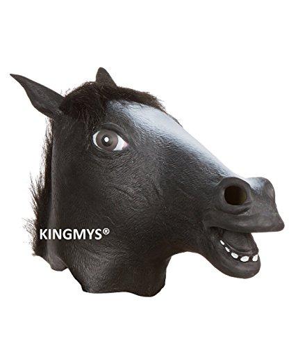 KINGMYS Fantastic, Creepy, Halloween Mask (Black Horse Mask)