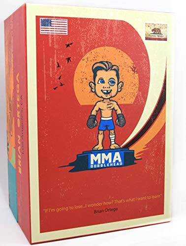 Hand Painted Limited Numbered UFC Bobblehead Limited Brian Ortega Handmade MMA UFC Action Figures Fight Night Sports Memorabilia