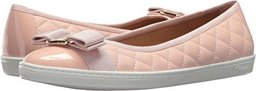 Salvatore Ferragamo Women's Nappa Leather/Tweed Sneaker Bon Bon Nappa Moda F 7.5 M (Ferragamo Womens Shoes)