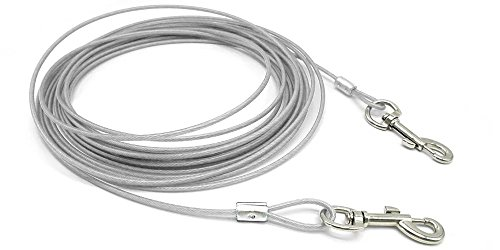 - Beirui Premium White 32' Dog Tie-Out Cable - Heavy Duty Dogs Chain Leashes - Perfect Pets Lead Small & Medium Size
