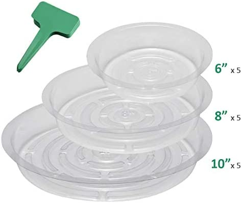 GROWNEER 15 Pack Plastic Saucers Assorted product image