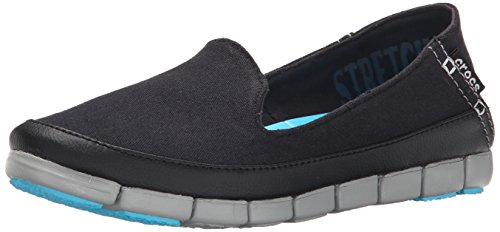 Stretchsoleskimmerw Crocs Light plana Black Grey qYwxwCdO