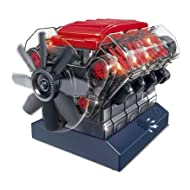 Be Amazing! Toys Stemnex V8 Model Engine | Build Your Own Transparent Plastic Model of a Working V8 Combustion Engine | 270 Components