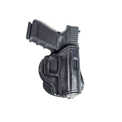Paddle Leather Holster for Glock 23. Leather OWB Paddle with Adjustable Cant.
