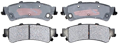 antage Ceramic Rear Disc Brake Pad Set with Hardware (C3500 Brake Pad)