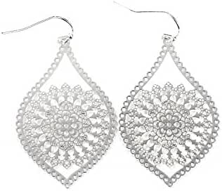 Neoglory Jewelry Three Styles Silver Plated Dangle Earrings for Sensitive Ears