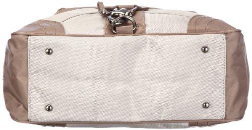 Sansibar Calima B-499 CA 37 - Bolso con asas de nailon para mujer Beige (Taupe)