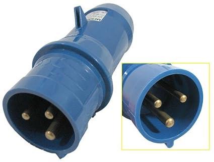 41Tn9bNr15L._SX425_ mennekes connector 2 phase 250 vac 32a amazon com