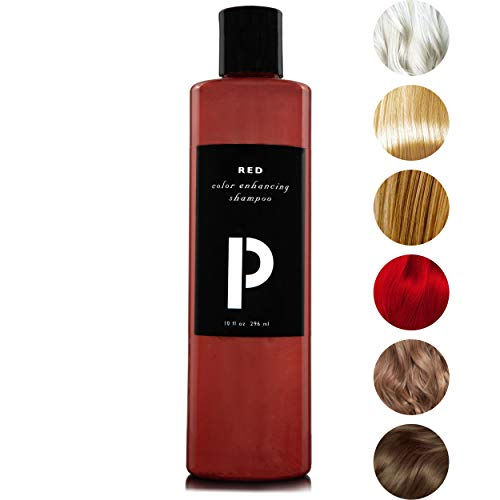 ProColor Shampoo for Color Treated Hair 10oz | Toner Locks and Enhances Color - Protect, Cleanse, and Purify Blonde, Red, and Dyed Hair - Moisturizing Shampoo for Soft Smooth Hair (Red)