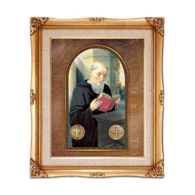 St. Benedict Framed Art by Discount Catholic Store