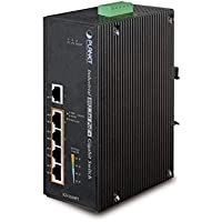 PLANET IGS-504HPT / Industrial 5-Port Gigabit Switch w/ 4-Port 802.3at PoE+
