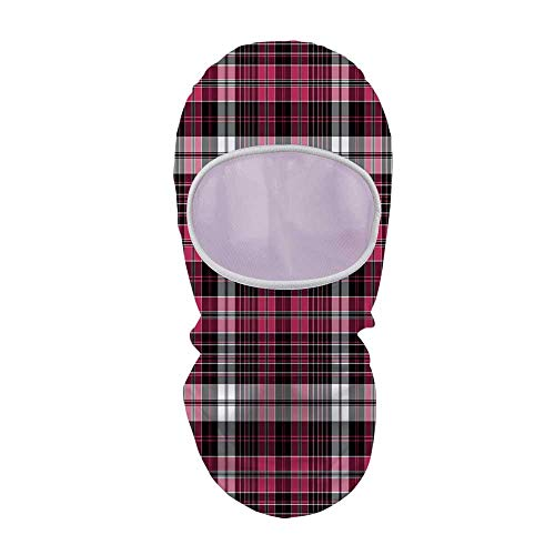 YOLIYANA Checkered Sunscreen Hood face Gini,Symmetrical Lines and Squares Geometric Old Tartan Inspired Design Print Decorative for Outdoor,8.6