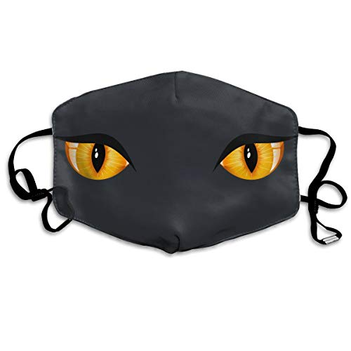 SDQQ6 Halloween Cat Eyes Mouth Mask Unisex Printed Fashion Face Mask Anti-dust -