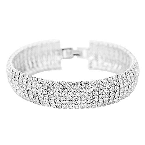 Row Crystal Rhinestone Bracelets - 5