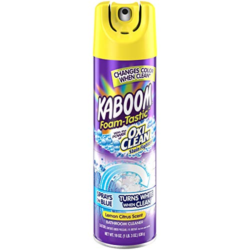 Clean Foam Cleaner - Kaboom Foam-Tastic with OxiClean Fresh Scent Bathroom Cleaner, 19oz. (Pack of 2)