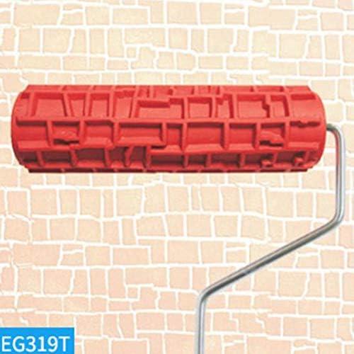 Camisin 2 Pi/èces S/éries Rouleau de Peinture en Relief de 7 Pouces avec Poign/ée en Plastique pour D/écoration Murale Eg317T-Stone /& Eg319T