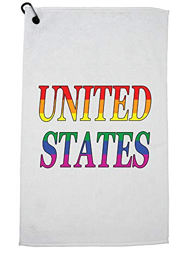 Hollywood Thread United States Golf Towel with Carabiner Clip by Hollywood Thread