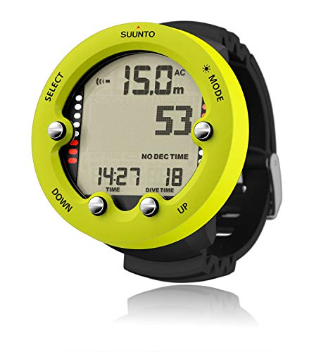 SUUNTO Zoop Novo Wrist Scuba Diving Computer, Lime, Without ()