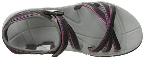 Northside Womens Kiva Strap Sandal Black/Purple NNpQj