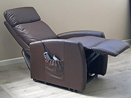 Fauteuil de Massage releveur avec Chaleur Lombaire Compact Beige