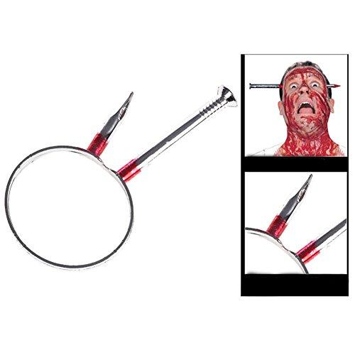 Berry President® April Fool's Day Halloween Terror Scary Props Wear Head Knife Wear Head (Presidents Knife)