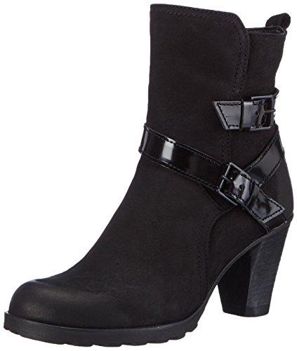 Tamaris 25809 - botas de cuero mujer negro - Schwarz (Blk/Blk Brush 026)