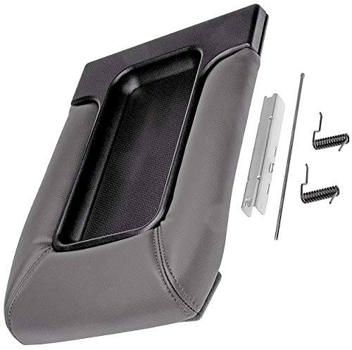 APDTY 035922 Center Console Compartment Lid/Leather Armrest Replacement Kit - Dark Gray/Pewter Color For 2001-2006 Escalade, Avalanche, Silverado, Sierra, Suburban, Tahoe, Yukon (Replaces 19127364) ()
