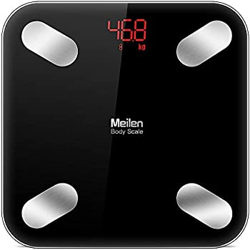 Meilin Bluetooth Body Fat Scale with Free iOS and Android App