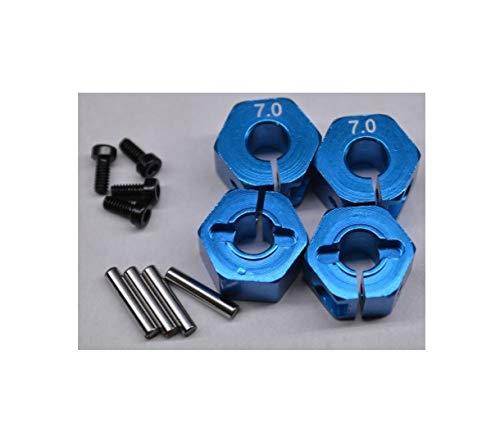 7mm Front&Rear Blue Billet Aluminum 12mm Hex Wheel Hub Traxaz Stampede 4X4 Quick Arrive