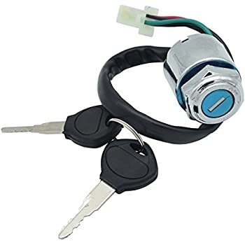 Wingsmoto Key Ignition Switch 70cc 90cc 110cc 125cc 150cc 200cc 250cc Go-Kart Dune Buggy Cart UTV 3 Wires