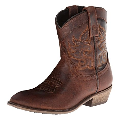 Dingo Women's Willie Short Cowgirl Boot Round Toe Brown 7 M US