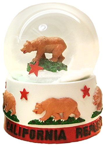 Collection of City and States Detailed 65mm Snow Globes (California)