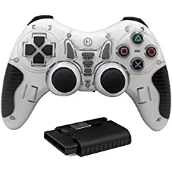 C-Zone 6 in 1 Blutooth gamepad/game controller for PC/PS1/PS2/PS3/PC360/Android TV/TV Box/PC/Tablet - White