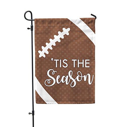 Tis the Season Football Garden Flag Outdoor Patio Seasonal Holiday Fabric 12.5