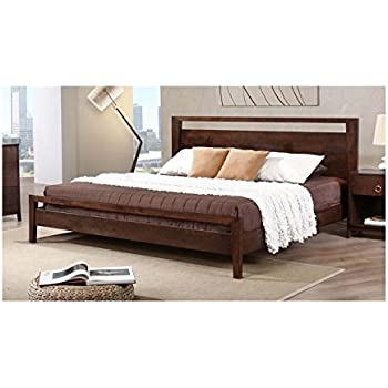 Amazon Com Kota Contemporary King Size Platform Bed