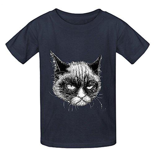 Grumpy Cat Jfv Boys' Crew Neck Print Tee Grey
