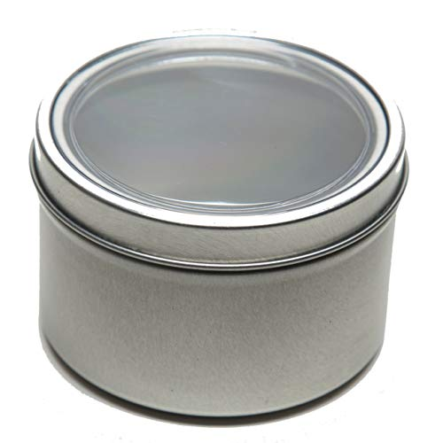 16 oz Applause Magnetic Round Spice and Food Storage Tin - Set of 4