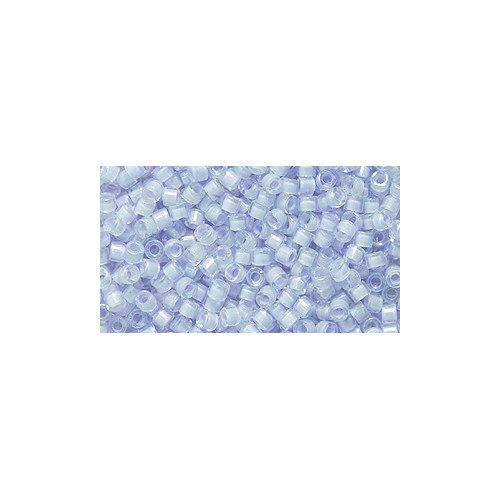 Miyuki Delica Seed Bead 11/0 DB080, Colorlined Lavender Aurora Borealis Finish, 9-Gram/Pack