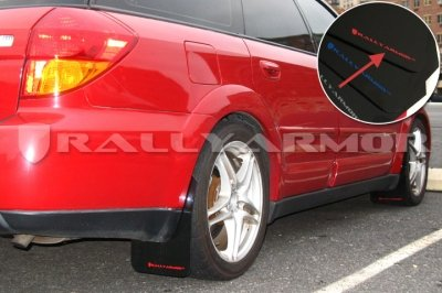 Rally Armor UR Flaps 05-09 Legacy GT & Outback Blk w/ Red Logo (Mud Flaps Outback compare prices)