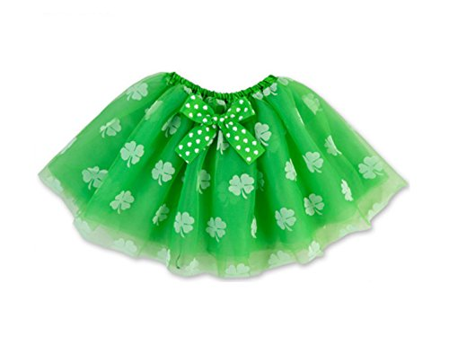 Rush Dance Ballerina St Patrick's Day Green & White Shamrock Clover Costume ()