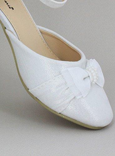 funkelnde Mädchen Schuh Schuh Weiß