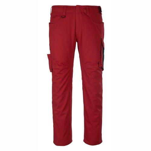 Mascot 12579-442-0209-82C54''Oldenburg'' Safety Trousers, Red/Black, L82cm/C54