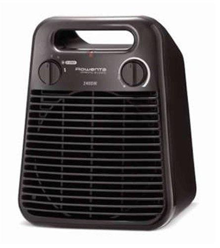 Rowenta Sprinto Silence - Termoventilador vertical, 2400 W, 2 posiciones, 47 dBA, termostato, protección antiheladas, asa transporte, color gris-chocolate: ...
