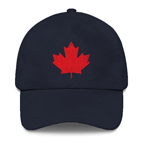 Tcombo Canadian Maple Leaf Dad Hat (Navy - Maple Eyelet Leaf