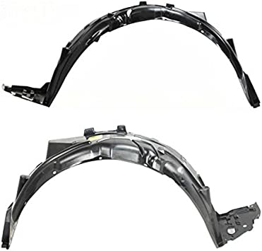 Splash Shields Fender Liner Set of 2 New Front Right-and-Left Coupe LH /& RH Pair