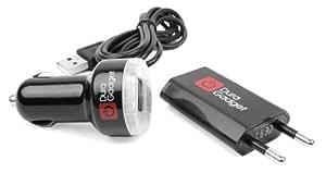 Accesorios-kit para Wiko Highway Heaven + Barry Smartphones: carga connettore + coche-adaptador + cable de datos (Micro-USB/Standard-USB)